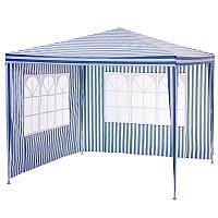Намет павільйон з двома стінками Garden star 3х3 м. Синій/ Білий, фото 1