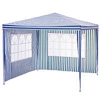 Шатер павильон с двумя стенками Garden star 3х3 м. Синий/ Белый