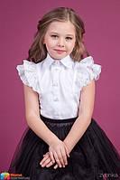 Хлопковая блузка Зиронька 26-9022-1, цвет белый