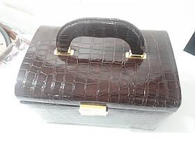 Кожаная шкатулка для украшений с вкладышем Brown  (88504-1), фото 2
