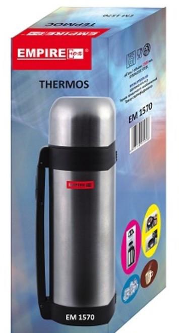 Термос нержавеющий круглый для воды и еды V 1800 мл (шт)