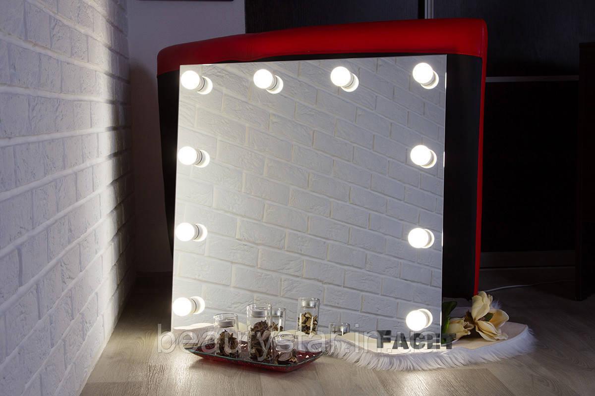 """Дзеркало з підсвічуванням, дзеркало з лампами """"Кріс"""""""