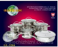 Набор кухонной посуды 12 предметов Grand Line (Арт. 3204)
