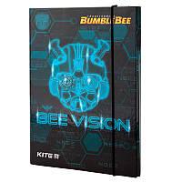 TF19-210 Папка картон для тетрадей на резинках В5 KITE 2019 Transformers BumbleBee Movie 210
