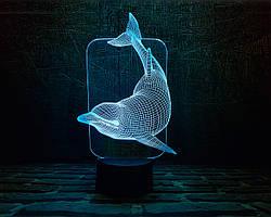 """Сменная пластина для 3D ламп """"Дельфин"""" 3DTOYSLAMP"""