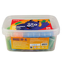 K19-138 Цветное тесто для лепки (50 цв. 20 гр.) в ведерке KITE 2019 Jolliers 138