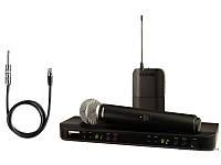 Shure BLX1288ESM58 радиосистема UHF двухкональн с ручным SM58 и с гитарным кабелем