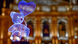 """Сменная пластина для 3D ламп """"Мишка с шариком"""" 3DTOYSLAMP"""