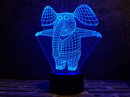 """Сменная пластина для 3D ламп """"Слоник"""" 3DTOYSLAMP"""