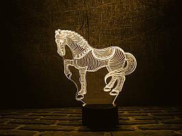 """Сменная пластина для 3D ламп """"Лошадка"""" 3DTOYSLAMP"""