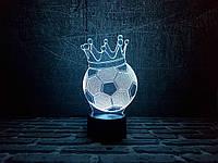 """Сменная пластина для 3D светильников """"Футбольный мяч с короной"""" 3DTOYSLAMP"""