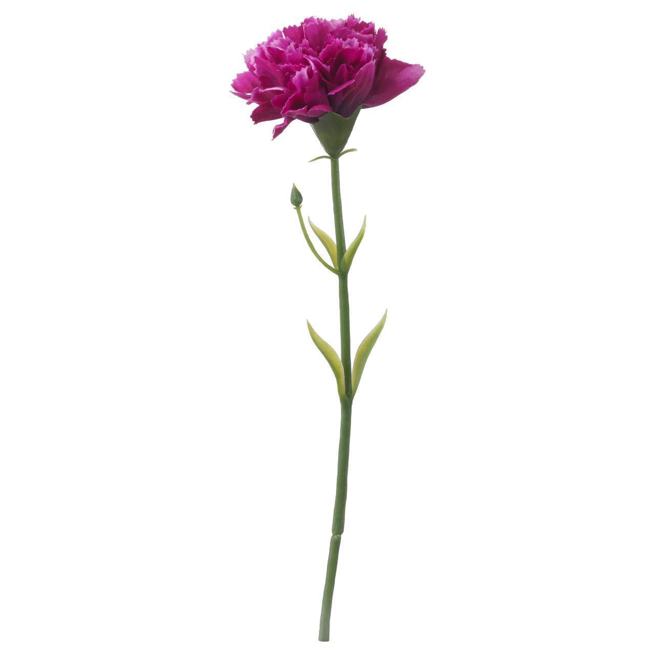 Искусственный цветок IKEA SMYCKA 30 см гвоздика фиолетовая 903.356.59
