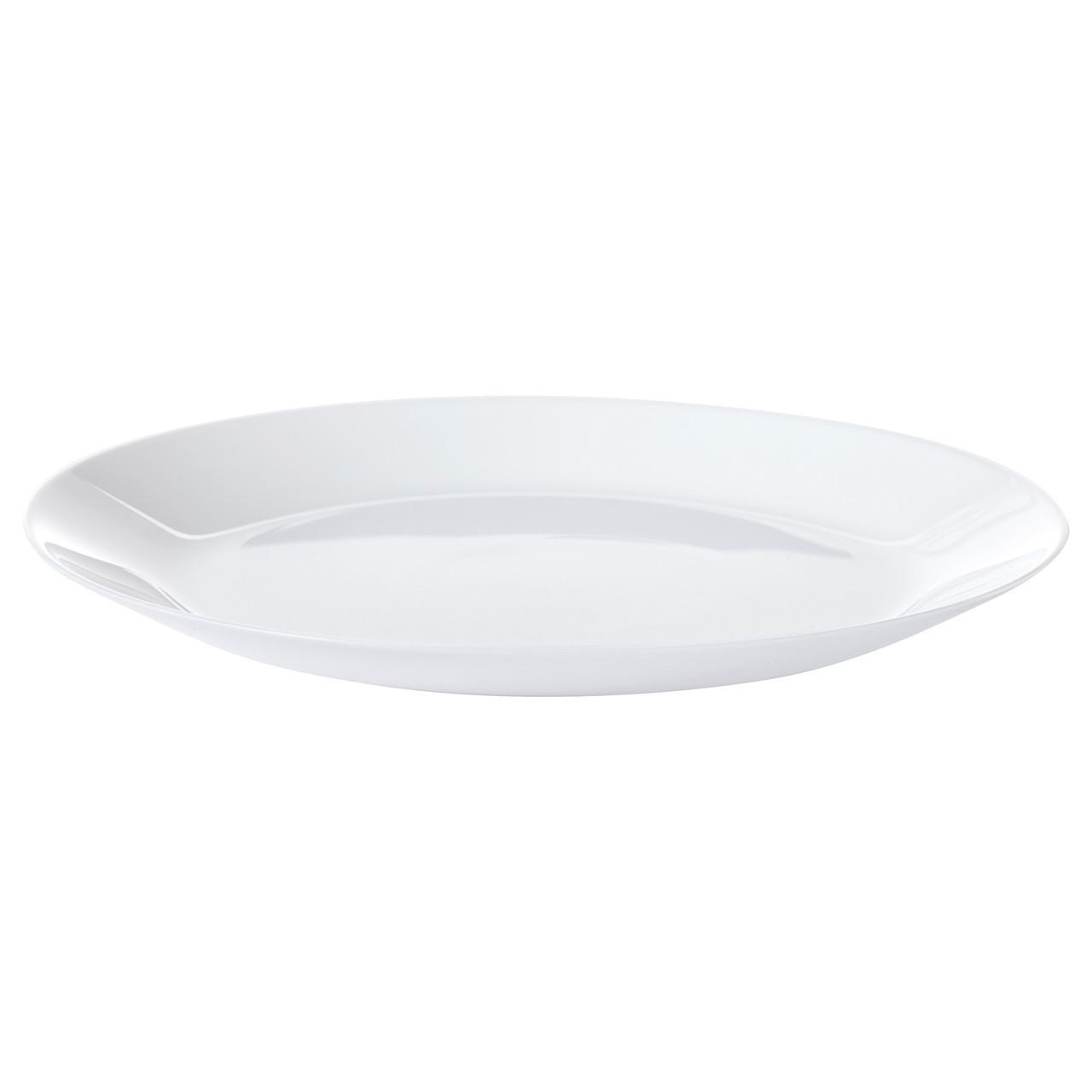 Тарелка икеа OFTAST, белая, 25 см , IKEA, 302.589.13
