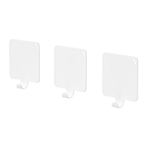 Крючок IKEA PLUTT самоклеющийся белый 803.471.01