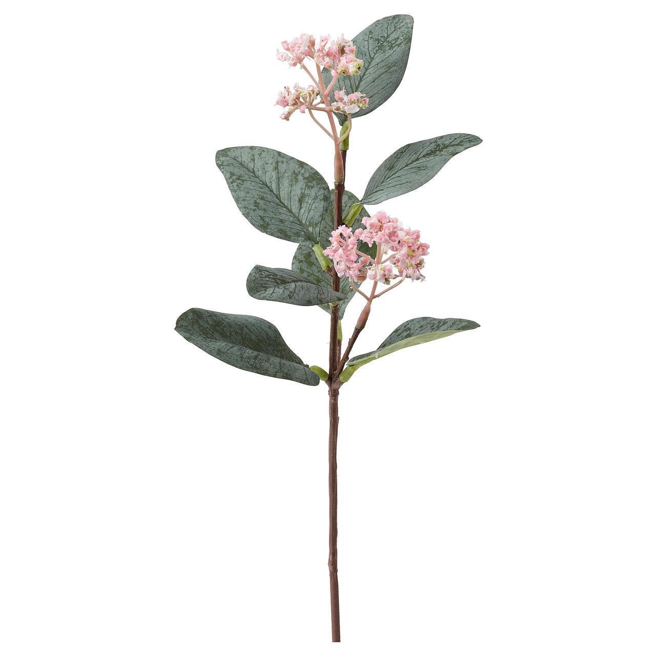 Искусственный цветок IKEA SMYCKA 30 см эвкалипт розовый 304.098.46