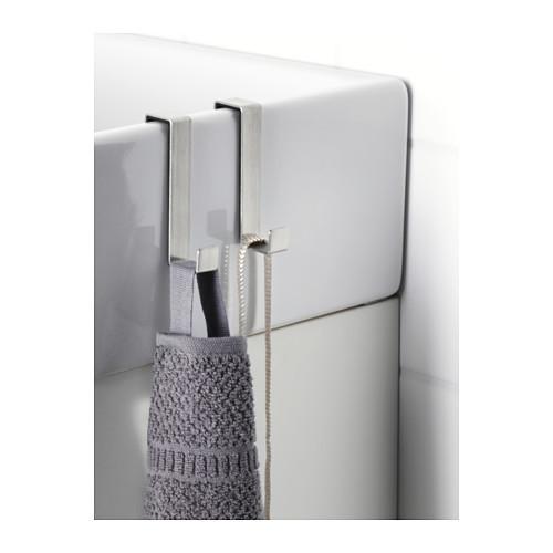Набор мебельных крючков IKEA LILLÅNGEN дверные нержавеющая сталь 101.976.71 - фото 2
