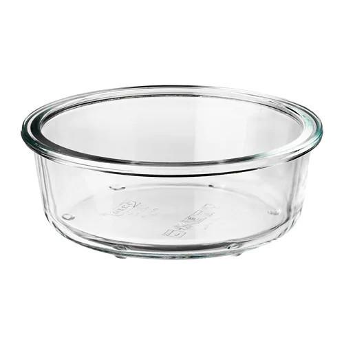 Контейнер для хранения продуктов IKEA 365+ 400 мл круглый стеклянный 503.591.95