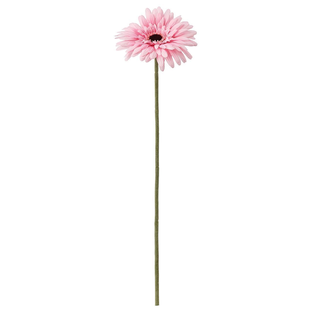 Искусственный цветок IKEA SMYCKA 50 см гербера розовая 304.097.71