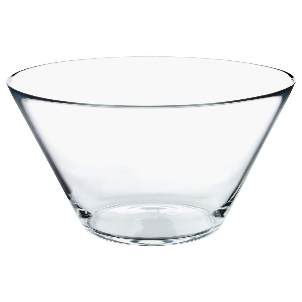 Миска икеа TRYGG, стекло, прозрачная, IKEA, 201.324.53