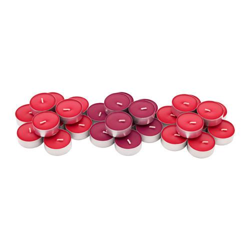 Набор ароматических свеч IKEA SINNLIG 30 шт красные ягоды 003.373.80