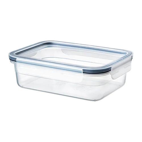 Контейнер для хранения продуктов IKEA 365+ 1 л прямоугольный с крышкой стеклянный 192.690.79