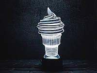 """Сменная пластина для 3D светильников """"Мороженое"""" 3DTOYSLAMP"""