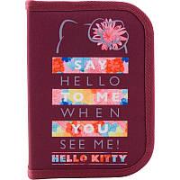 HK19-622 Пенал без наполнения Kite 2019 Education Hello Kitty 622, 1 отделение, 2 отворота