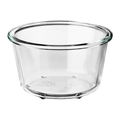 Контейнер для зберігання продуктів IKEA 365+ 600 мл круглий скляний 303.591.96