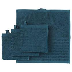 Набор полотенец IKEA VÅGSJÖN 4 шт 30x30 см темно-синий 503.535.94