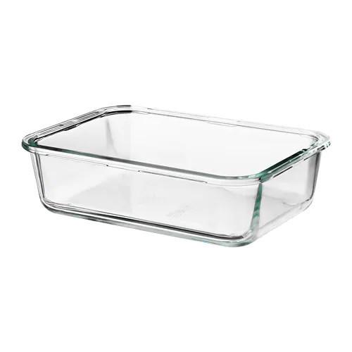Контейнер для хранения продуктов IKEA 365+ 1 л прямоугольный стеклянный 703.591.99