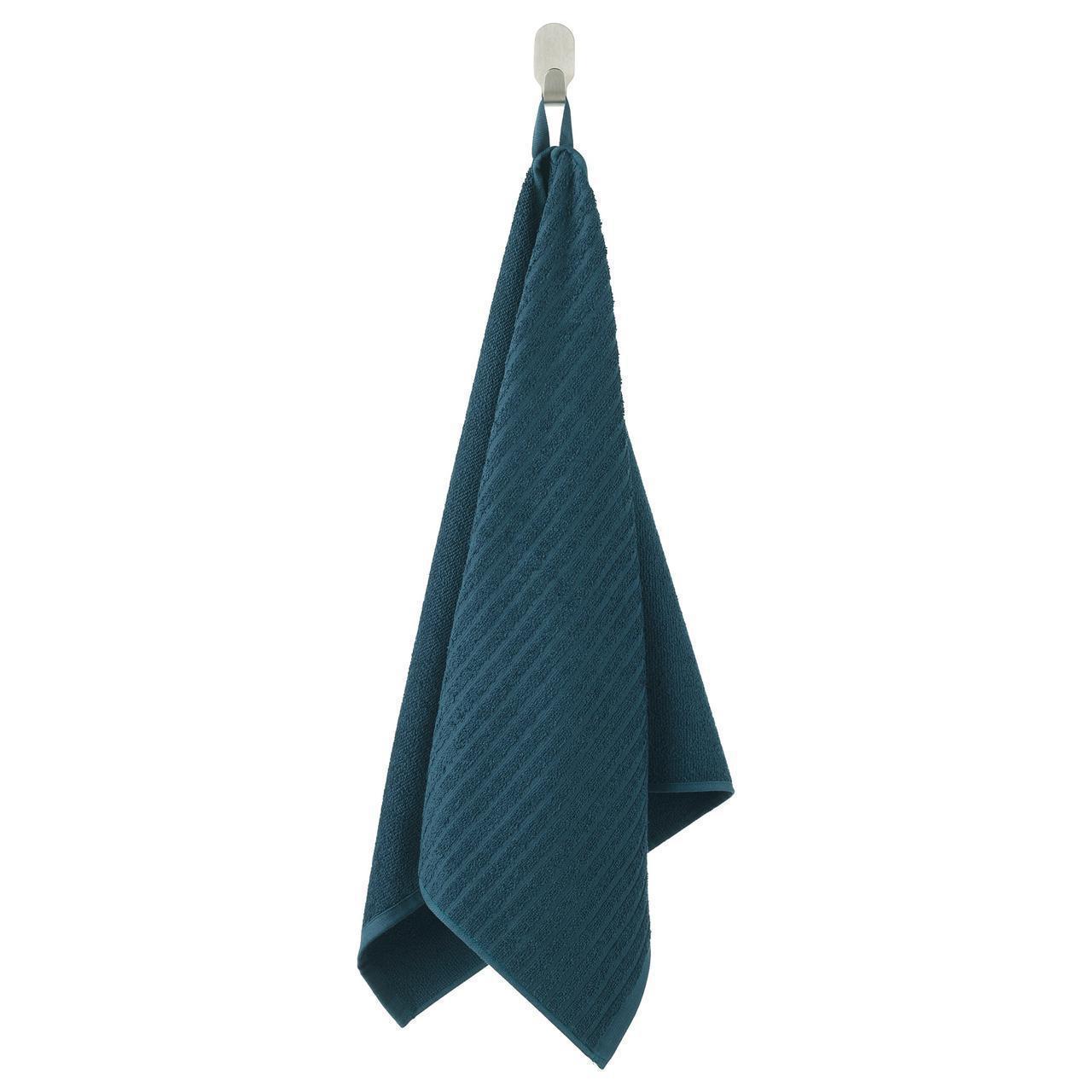 Полотенце для рук IKEA VÅGSJÖN 50x100 см темно-синее 803.535.97