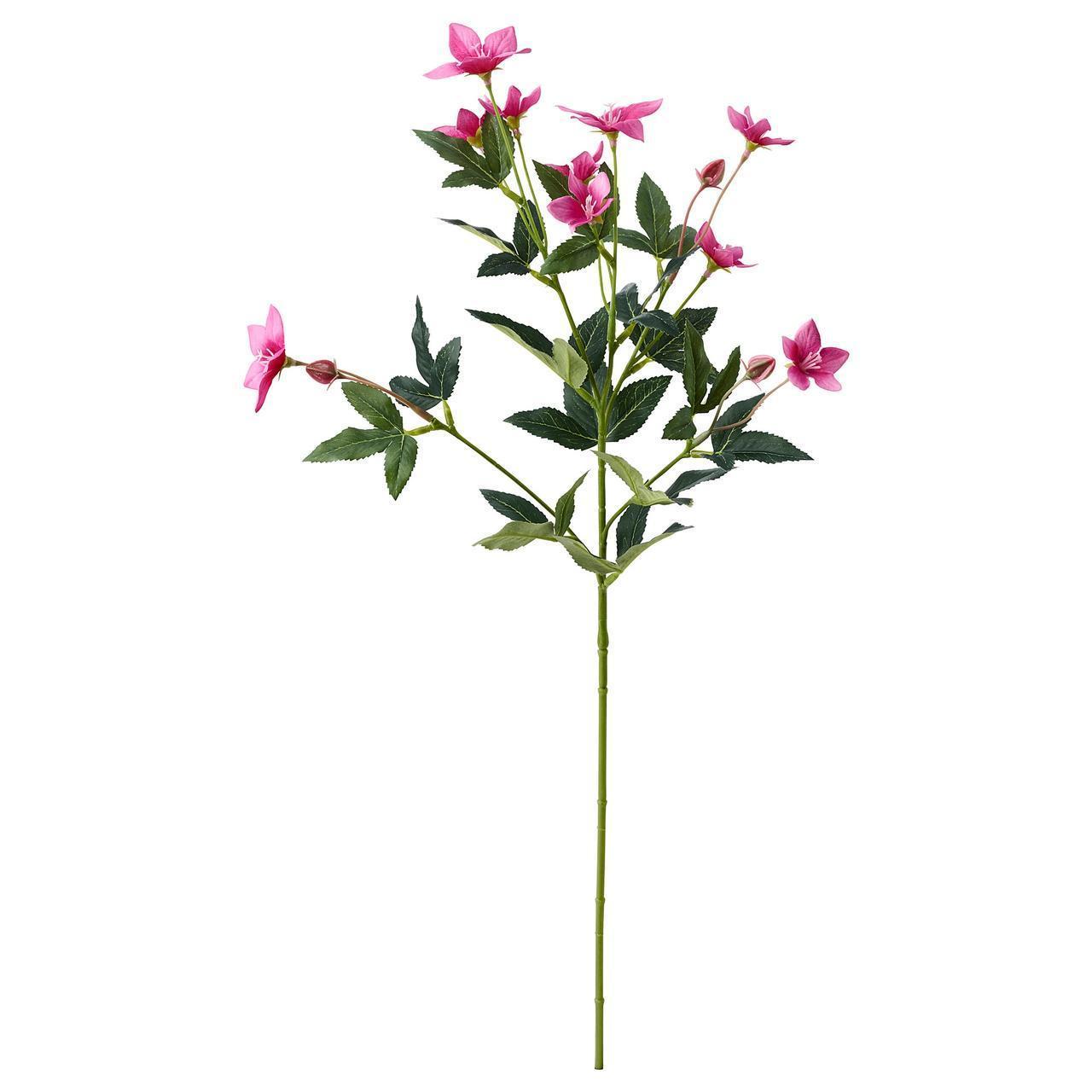 Штучний квітка IKEA SMYCKA 60 см рожевий 504.097.32