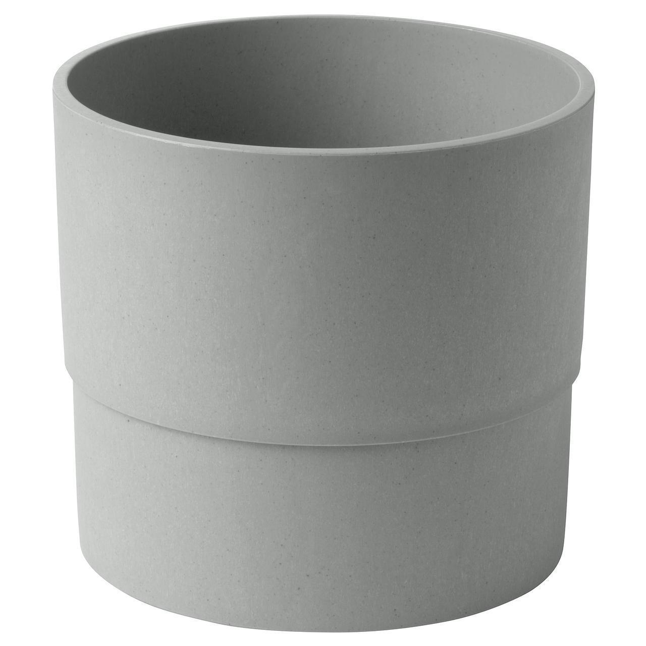 Цветочный горшок IKEA NYPON 15 см серый 603.956.16