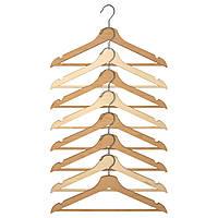 Набор вешалок для одежды IKEA BUMERANG 8 шт неокрашенный 302.385.43