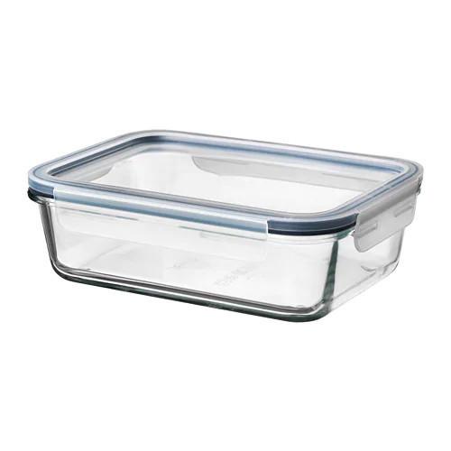 Контейнер для хранения продуктов IKEA 365+ 1 л прямоугольный с крышкой стекло пластик 892.690.71