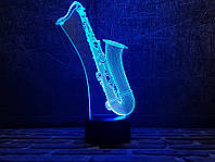 """Сменная пластина для 3D светильников """"Саксофон"""" 3DTOYSLAMP"""