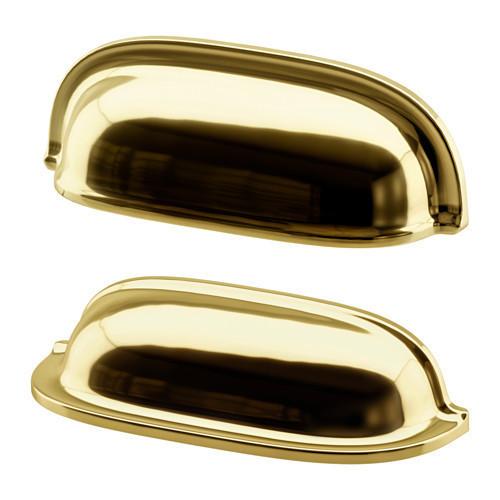 Мебельная ручка IKEA ENERYDA 2 шт 89 мм желтая медь 903.475.15