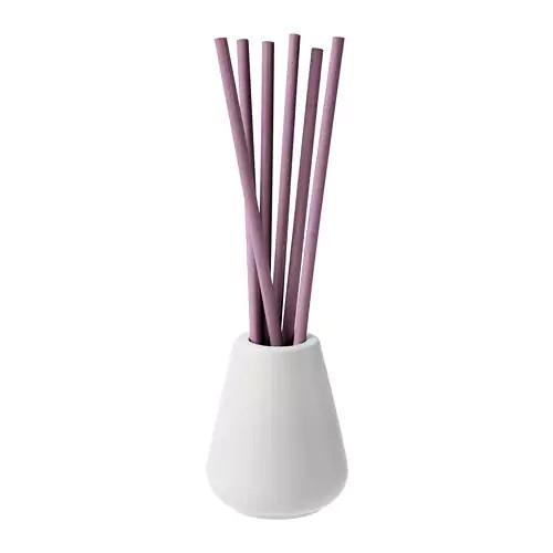 Ваза и 6 ароматных палочек IKEA NJUTNING лаванда сиреневая 903.555.67