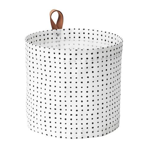 Мешок для белья IKEA PLUMSA 11 л белый черный 603.635.78