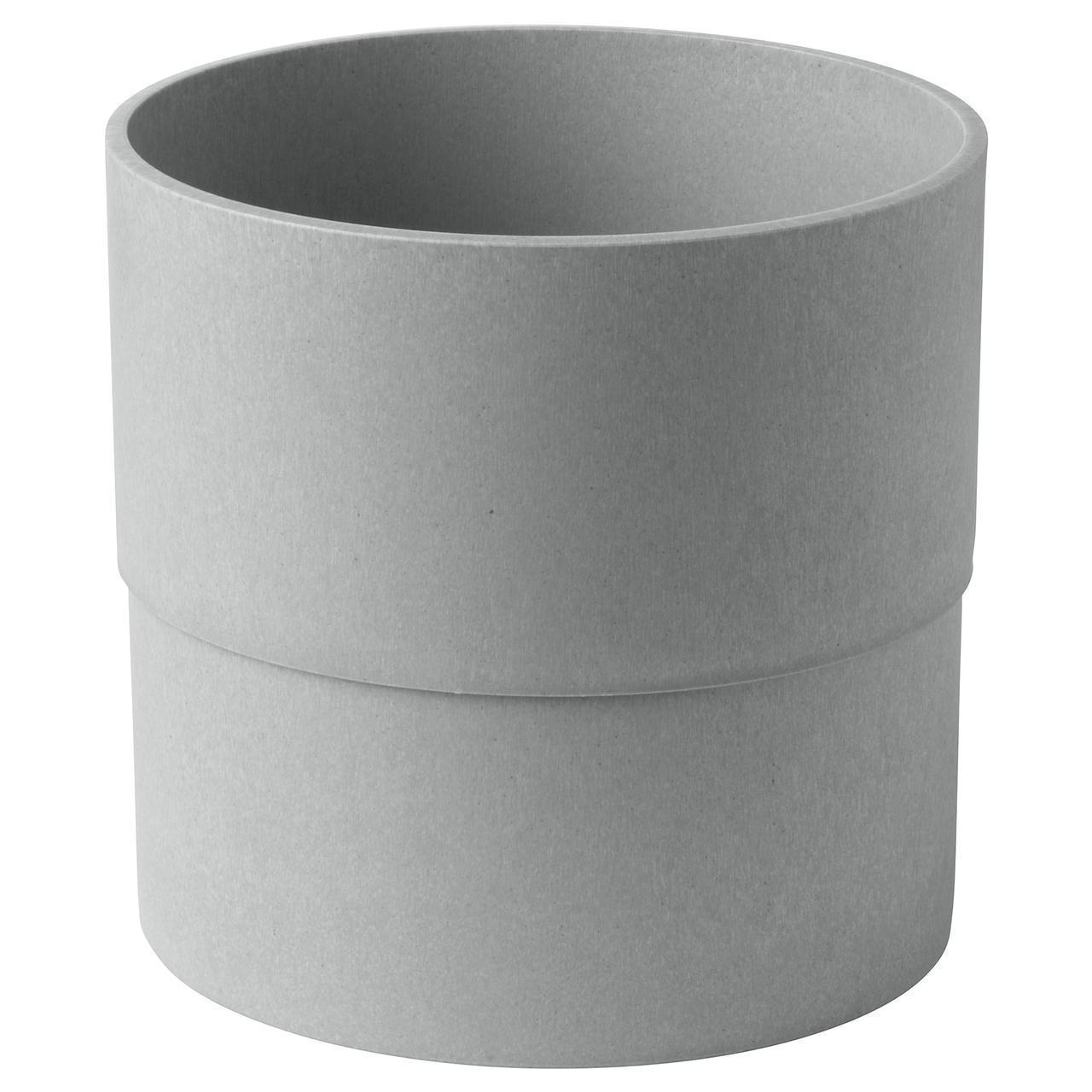 Цветочный горшок IKEA NYPON 20 см серый 303.956.27