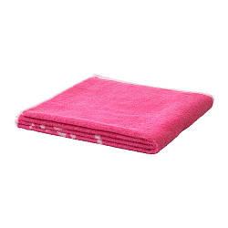 Полотенце для ванной IKEA URSKOG 70x140 см с рисунком льва розовое 803.939.37