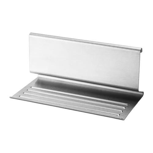 Підставка для планшета і кухонних приладів IKEA KUNGSFORS 26x12 см нержавіюча сталь 203.349.17