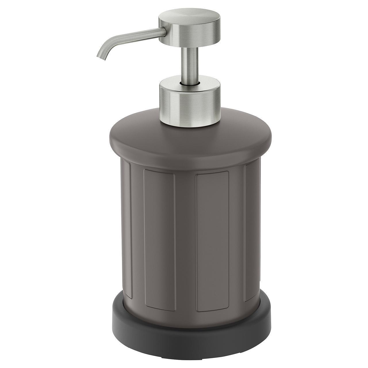 Дозатор для жидкого мыла IKEA TOFTAN серый 303.495.03