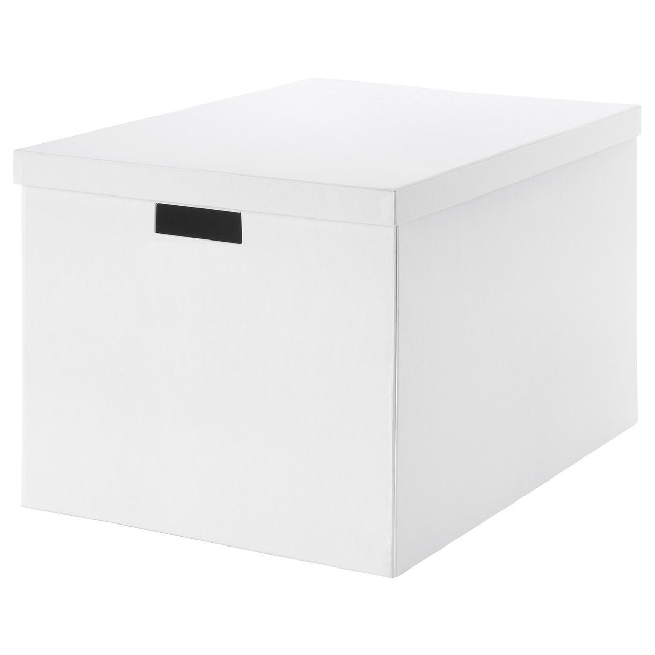 Коробка с крышкой IKEA TJENA 35x50x30 см белая 903.743.49