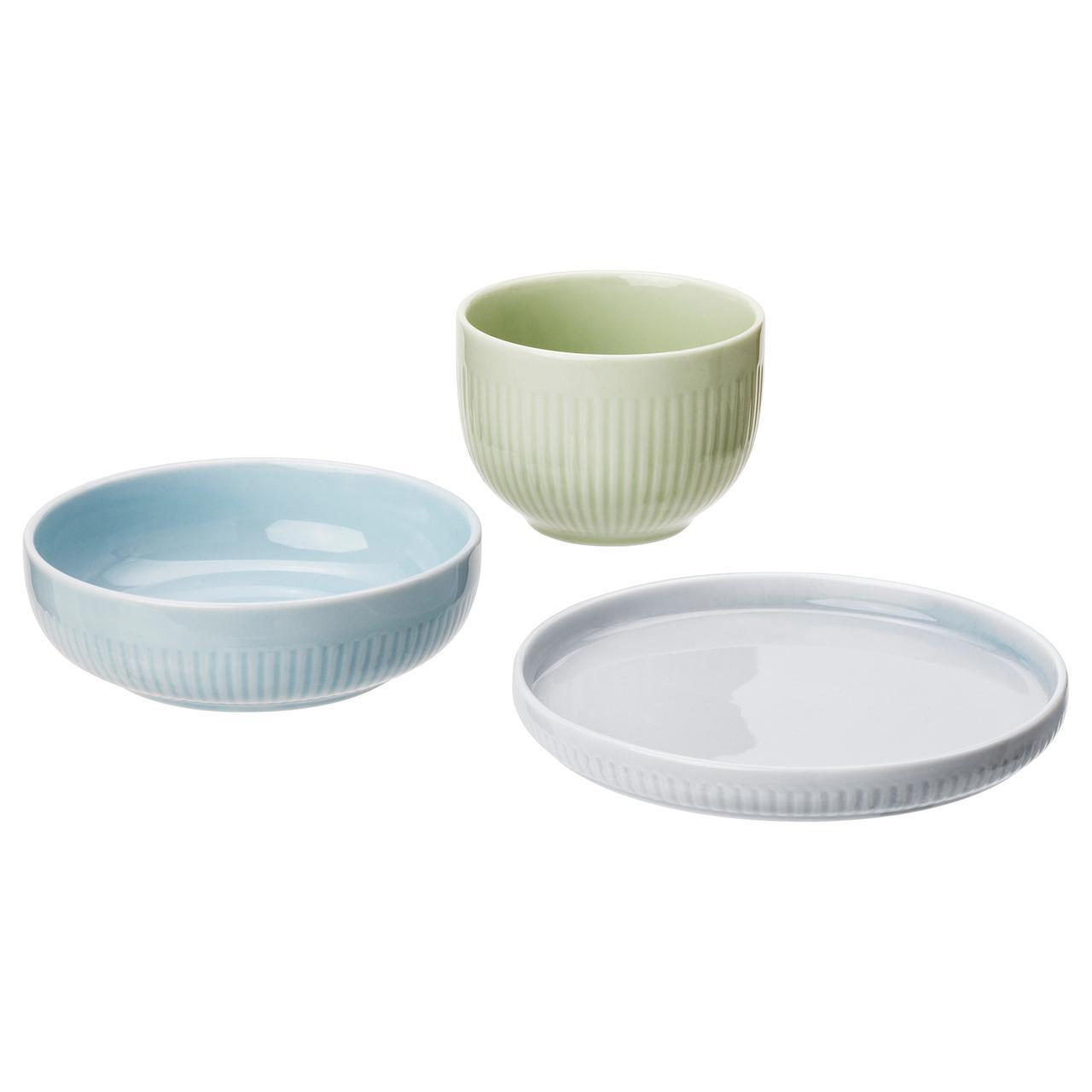 Набор посуды IKEA MORGONTE 3 шт разноцветный 503.982.67