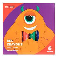 K19-094-6 Мелки гелевые (6 цветов) KITE 2019 Jolliers 094-6