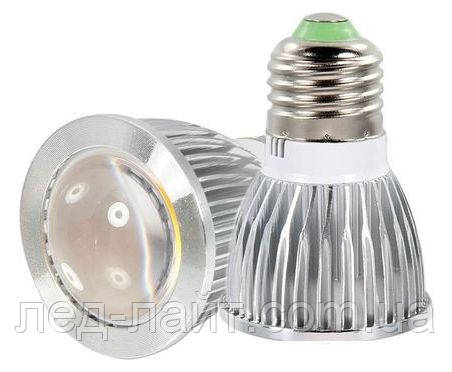 Лампа светодиодная Е27 COB 5Вт 220В (линза)