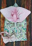 Теплый конверт-трансформер на выписку и для прогулок  для  девочек Совята, фото 3