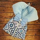 Конверт-плед 3 в 1  на молниях  для новорожденных Панды, фото 2
