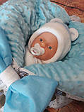Конверт-плед 3 в 1  на молниях  для новорожденных Панды, фото 8